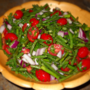 Green Bean Asparagus Salad @EclecticEveryday