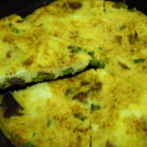 Asparagus and Ham Frittata by EclecticRecipes.com #recipe
