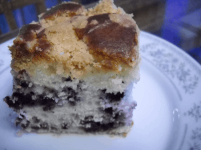 Blueberry Lemon Buckle by EclecticRecipes.com #recipe
