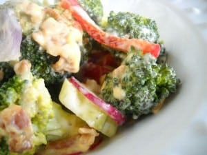 broccoli salad by EclecticRecipes.com #recipe