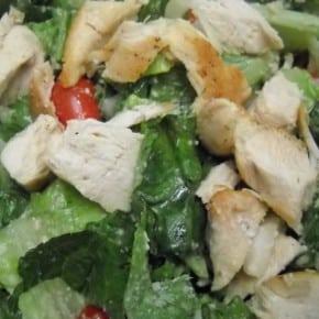 Chicken Caesar Salad @EclecticEveryday