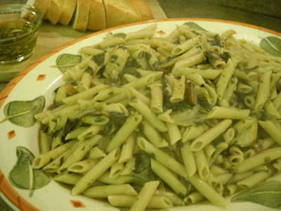 Chicken Marsala Pasta by EclecticRecipes.com #recipe