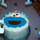 Cookie Monster Cake by EclecticRecipes.com #recipe