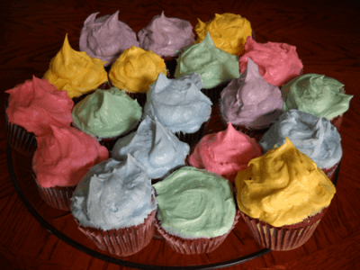 Colorful Easter Cupcakes and The Best Frosting I Have Ever Had @EclecticEveryday