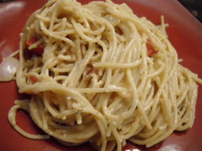 Southern Spaghetti Carbonara by EclecticRecipes.com #recipe