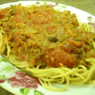 Spaghetti Bolognese by EclecticRecipes.com #recipe