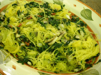 Spaghetti Squash Pasta by EclecticRecipes.com #recipe