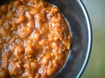 Spicy Baked Beans by EclecticRecipes.com #recipe