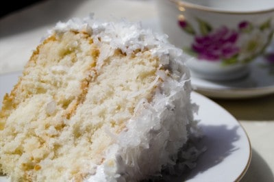 Coconut Cake with 7 Minute Frosting and Giveaway by EclecticRecipes.com #recipe