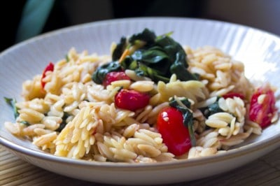 Spinach and Tomato Orzo by EclecticRecipes.com #recipe