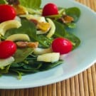 Warm Spinach Salad @EclecticEveryday