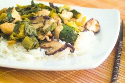 Honey Garlic Ginger Stir Fry by EclecticRecipes.com #recipe