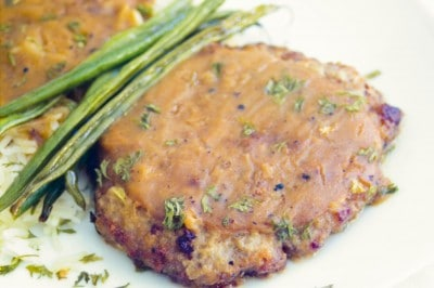 Country Fried Steak with Brown Gravy by EclecticRecipes.com #recipe