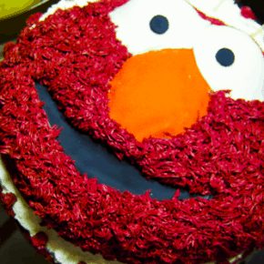 The Elmo Red Velvet Cake @EclecticEveryday