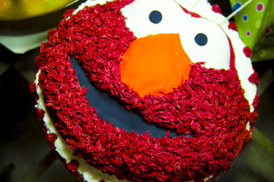 The Elmo Red Velvet Cake by EclecticRecipes.com #recipe