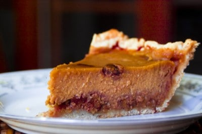 Roasted Pumpkin Pie and Giveaway by EclecticRecipes.com #recipe