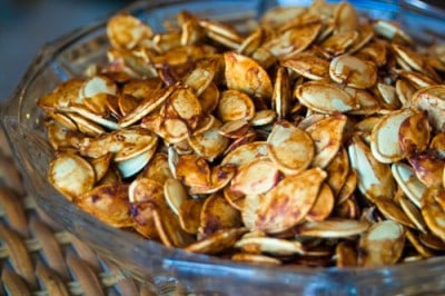 Roasted Pumpkin Seeds by EclecticRecipes.com #recipe