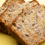 Banana Nut Bread with Streusal Topping by EclecticRecipes.com #recipe