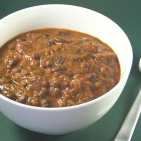 Crock Pot Ancho Chili with Beans @EclecticEveryday