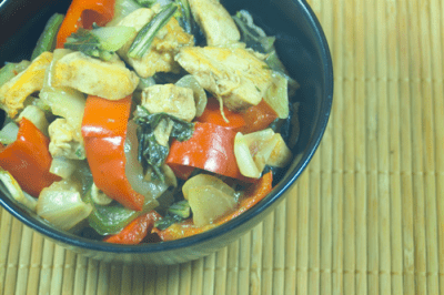 Five Spice Chicken Stir Fry by EclecticRecipes.com #recipe