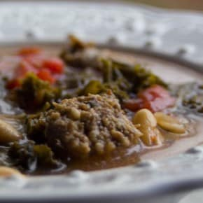 Italian Sausage, Kale, and Cannellini Bean Soup @EclecticEveryday
