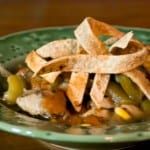 Chicken Tortilla Soup by EclecticRecipes.com #recipe