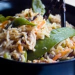 Fried Rice with Shiitake Mushrooms by EclecticRecipes.com #recipe