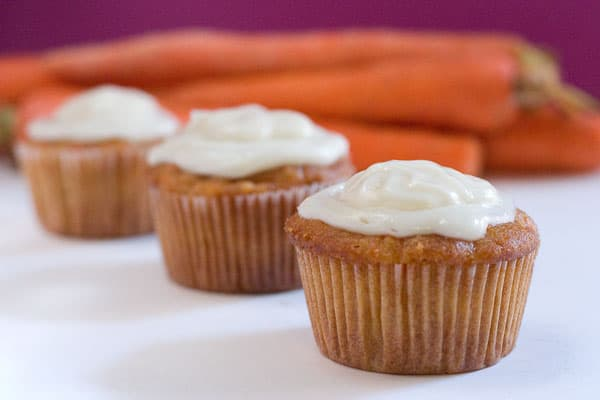 Eclectic Everyday » Carrot Cupcakes with Cream Cheese Frosting