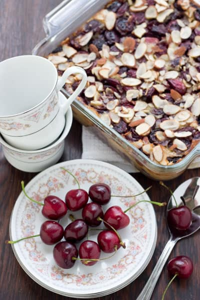 Cherry Clafouti by EclecticRecipes.com #recipe
