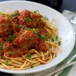 Spaghetti and Meatballs @EclecticEveryday