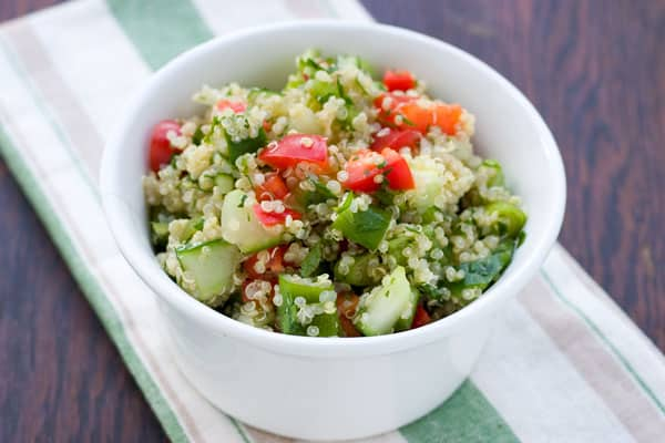 Greek Quinoa Salad by EclecticRecipes.com #recipe