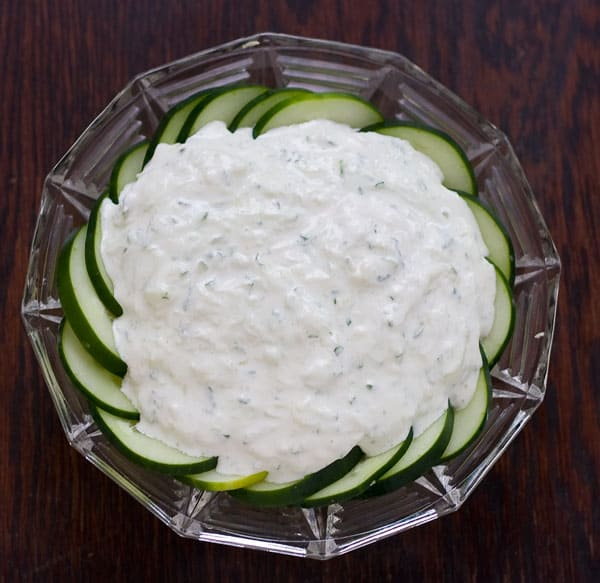 Cucumber Yogurt Dip by EclecticRecipes.com #recipe