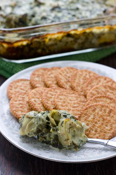 Spinach Artichoke Dip by EclecticRecipes.com #recipe