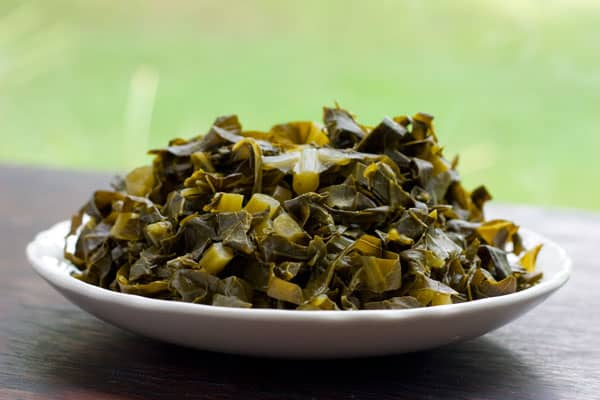 Collard Greens Recipe, Low Fat! by EclecticRecipes.com #recipe