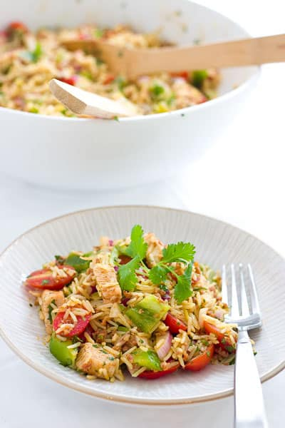 Paella Rice Salad by EclecticRecipes.com #recipe