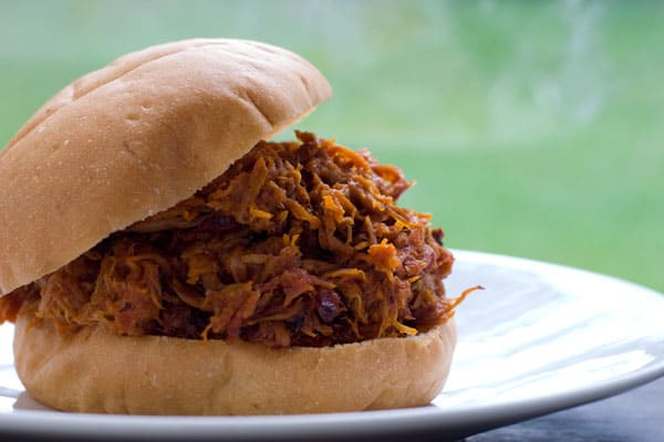 Pulled Pork Sandwiches  by EclecticRecipes.com #recipe