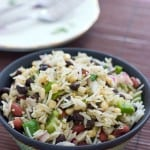 Beans and Rice Salad by EclecticRecipes.com #recipe