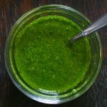 Cilantro Chimichurri by EclecticRecipes.com #recipe