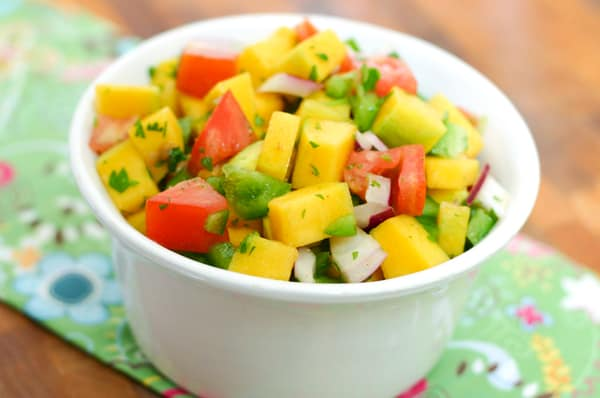 Mango Salsa by EclecticRecipes.com #recipe