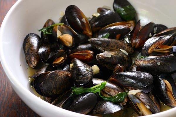 Jagermeister Mussels by EclecticRecipes.com #recipe