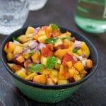 Peach Salsa by EclecticRecipes.com #recipe