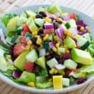 Black Bean, Corn and Avocado Salad @EclecticEveryday