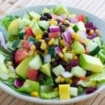 Black Bean, Corn and Avocado Salad by EclecticRecipes.com #recipe
