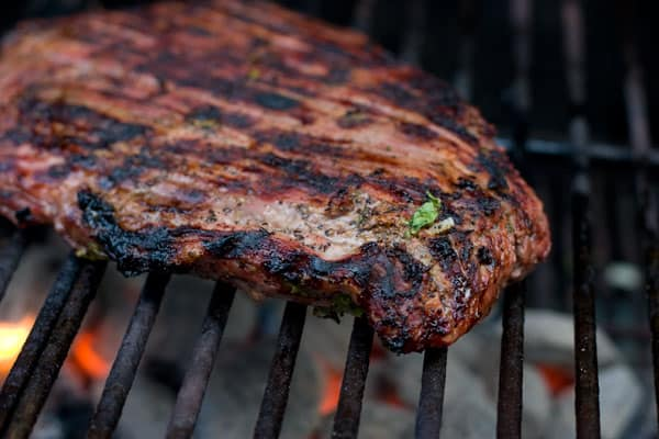 Grilled Carne Asada by EclecticRecipes.com #recipe
