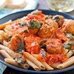 Vodka Cream Pasta with Italian Sausage @EclecticEveryday