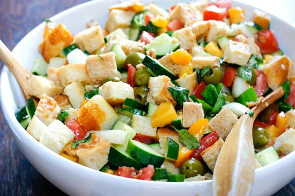 Panzanella by EclecticRecipes.com #recipe