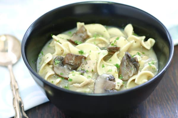 Chicken Noodle Soup with Mushrooms by EclecticRecipes.com #recipe
