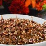 Caramel Apple Pie with Pecans by EclecticRecipes.com #recipe