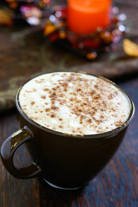 Pumpkin Spice Latte (Starbucks Copycat) by EclecticRecipes.com #recipe