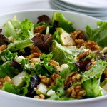 Pear Salad with Walnuts and Feta  by EclecticRecipes.com #recipe